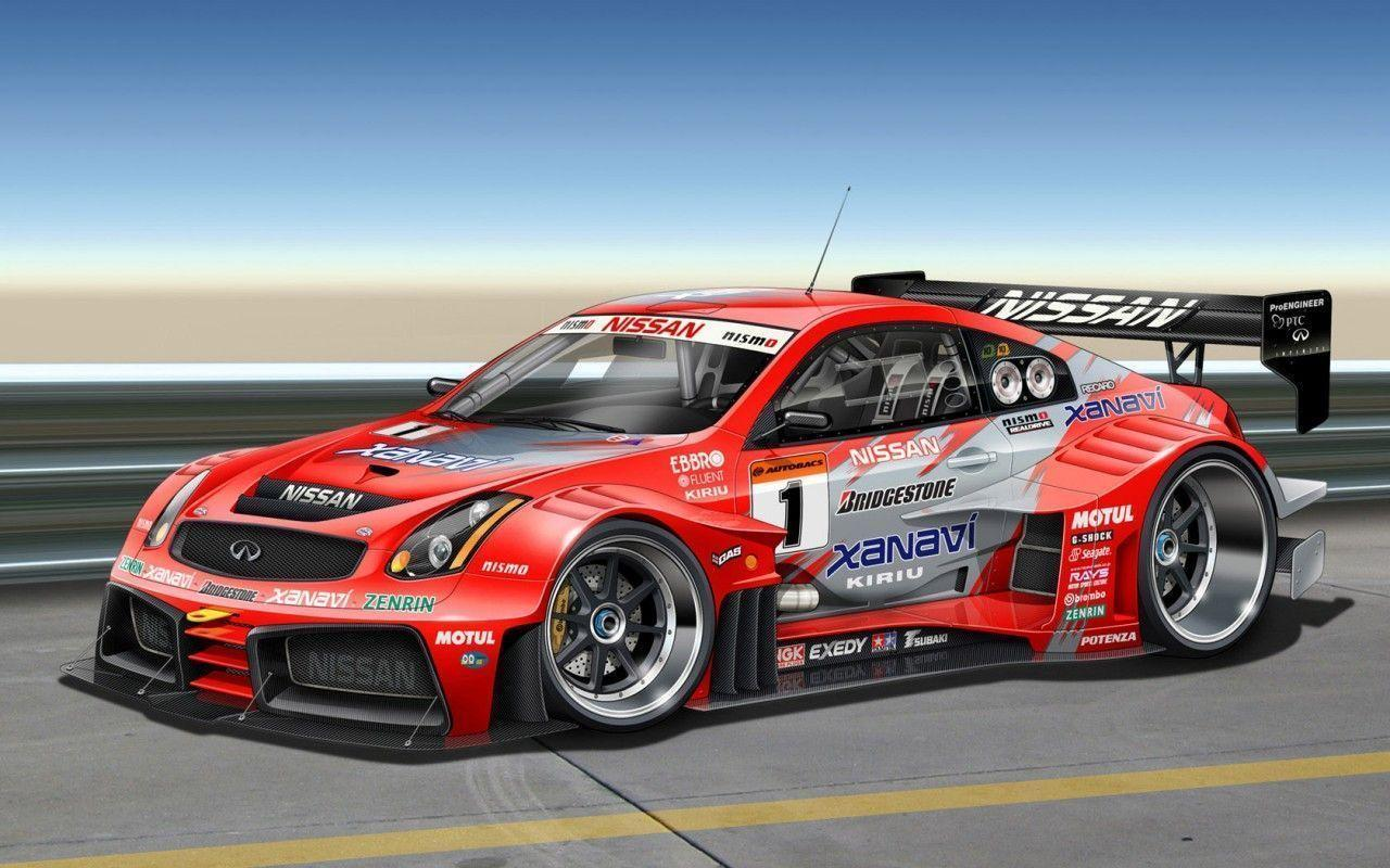 Anime Nissan Race Car Wallpaper HD Pictures ~ Nissan Car Wallpapers
