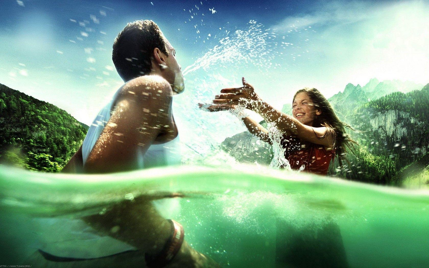 Wallpaper download couple love - Download Water Love Couples Hd Wallpapers Picture 8353 Hd