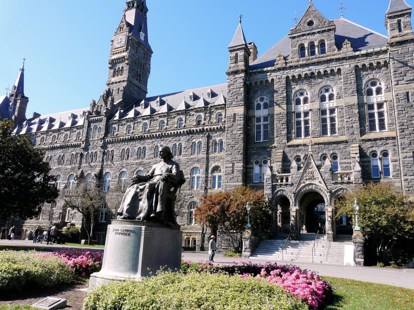 Wallpapers of georgetown university Stock Free Image
