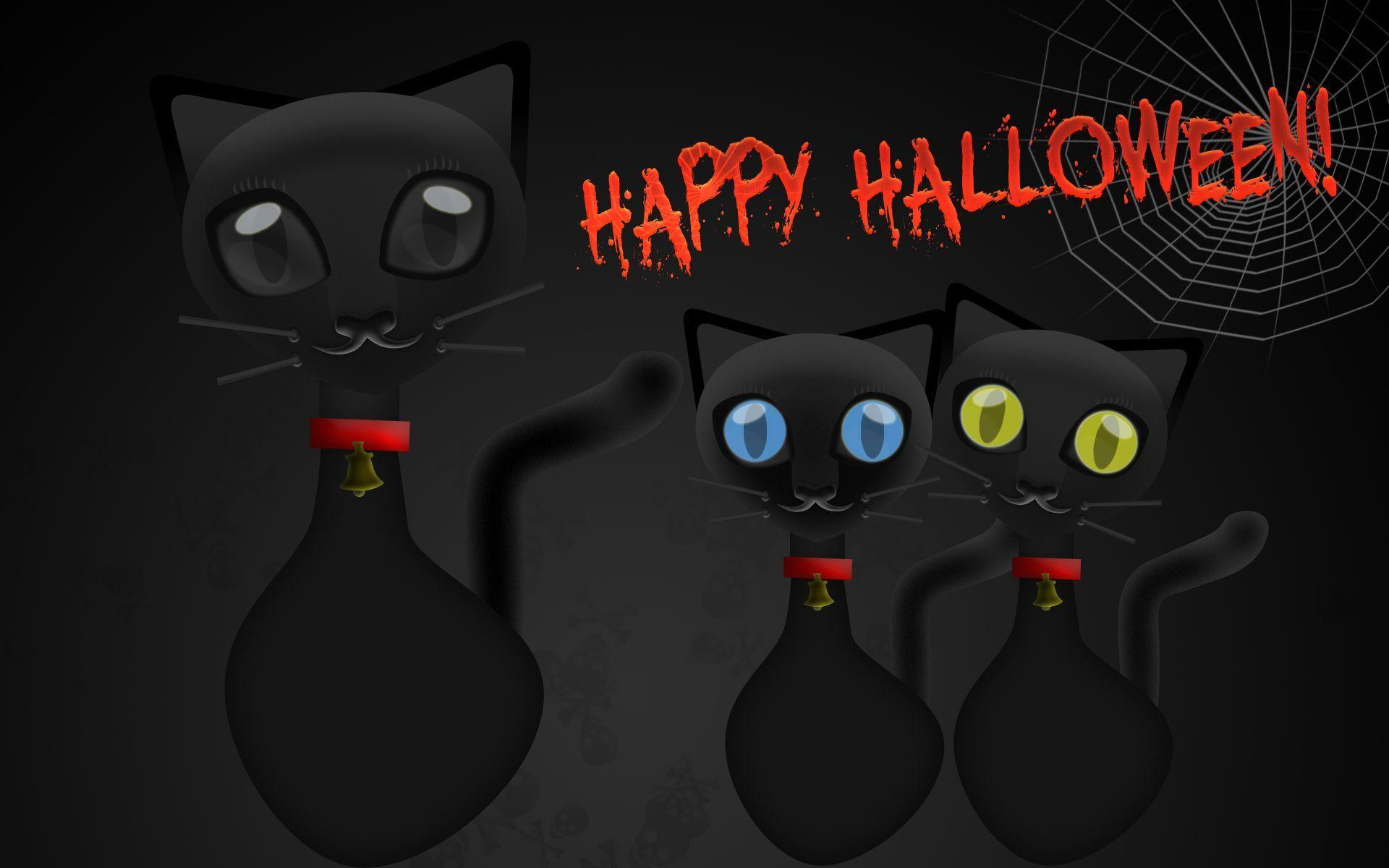 Halloween Black Cat Wallpaper and PSD « Tick Tock Computers Web ...