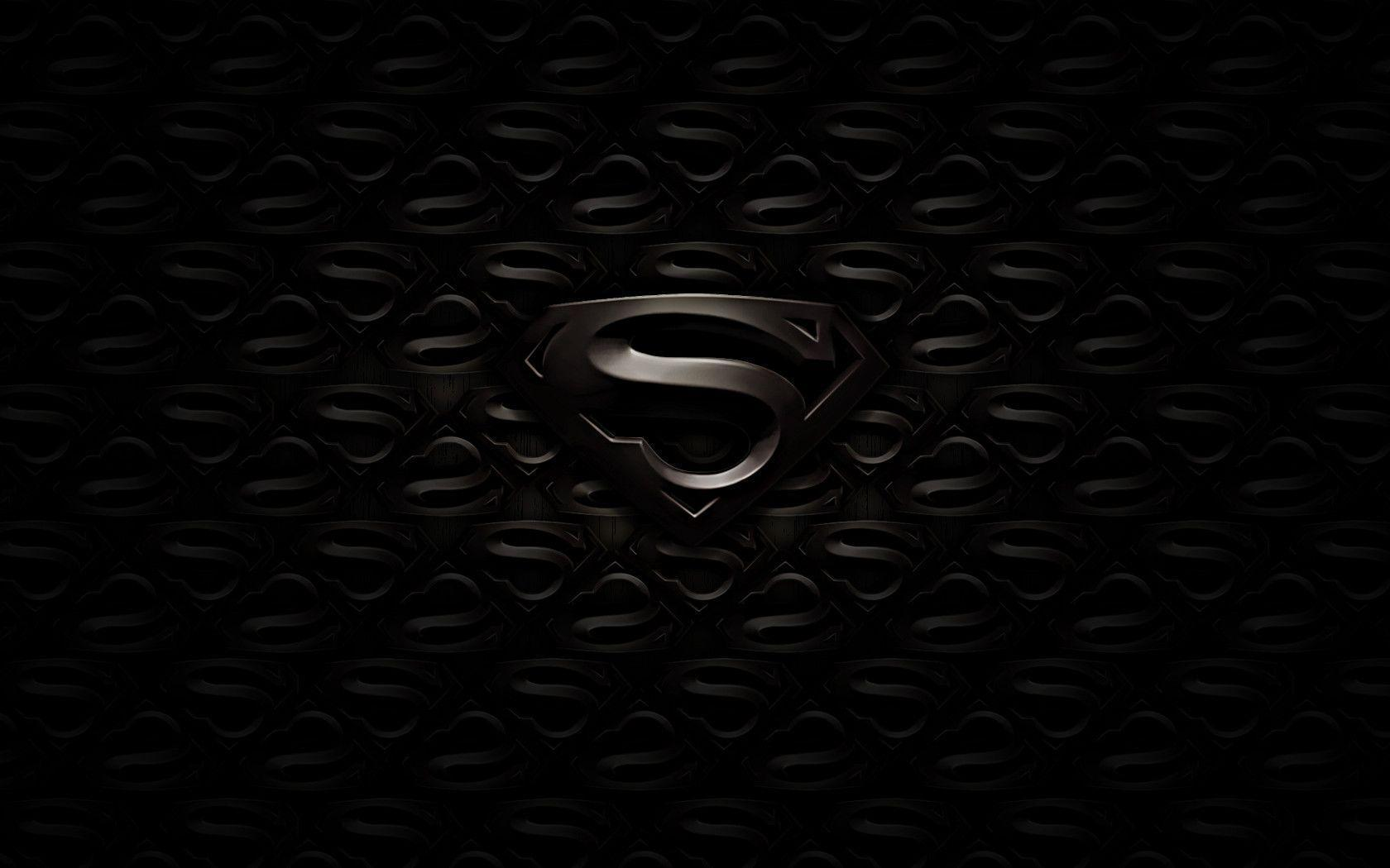 Superman Logo Black And White HD Wallpapers