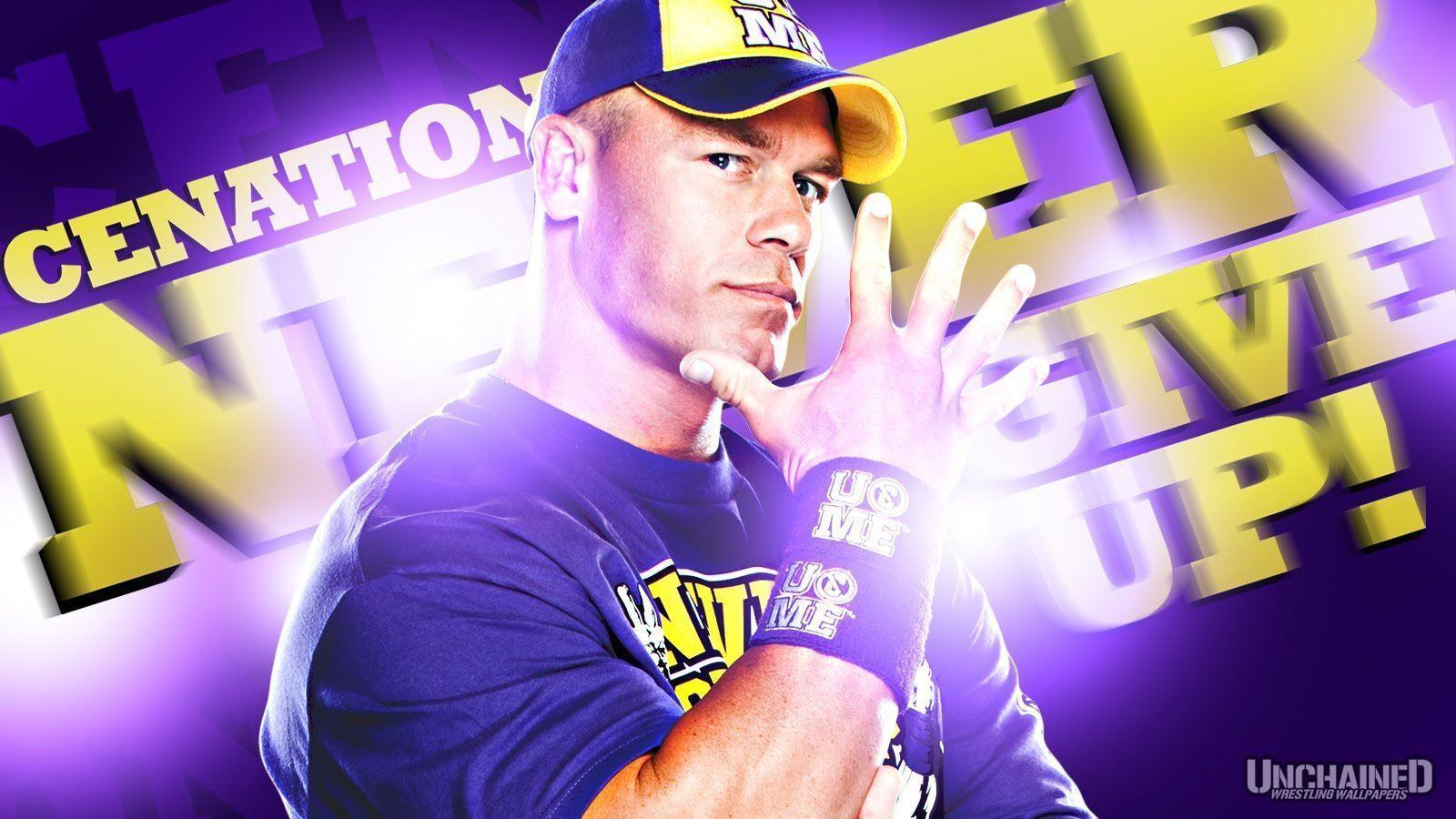 "WWE John Cena ""Never Give Up!"" Wallpapers ~ Unleashed WWE:WWE"