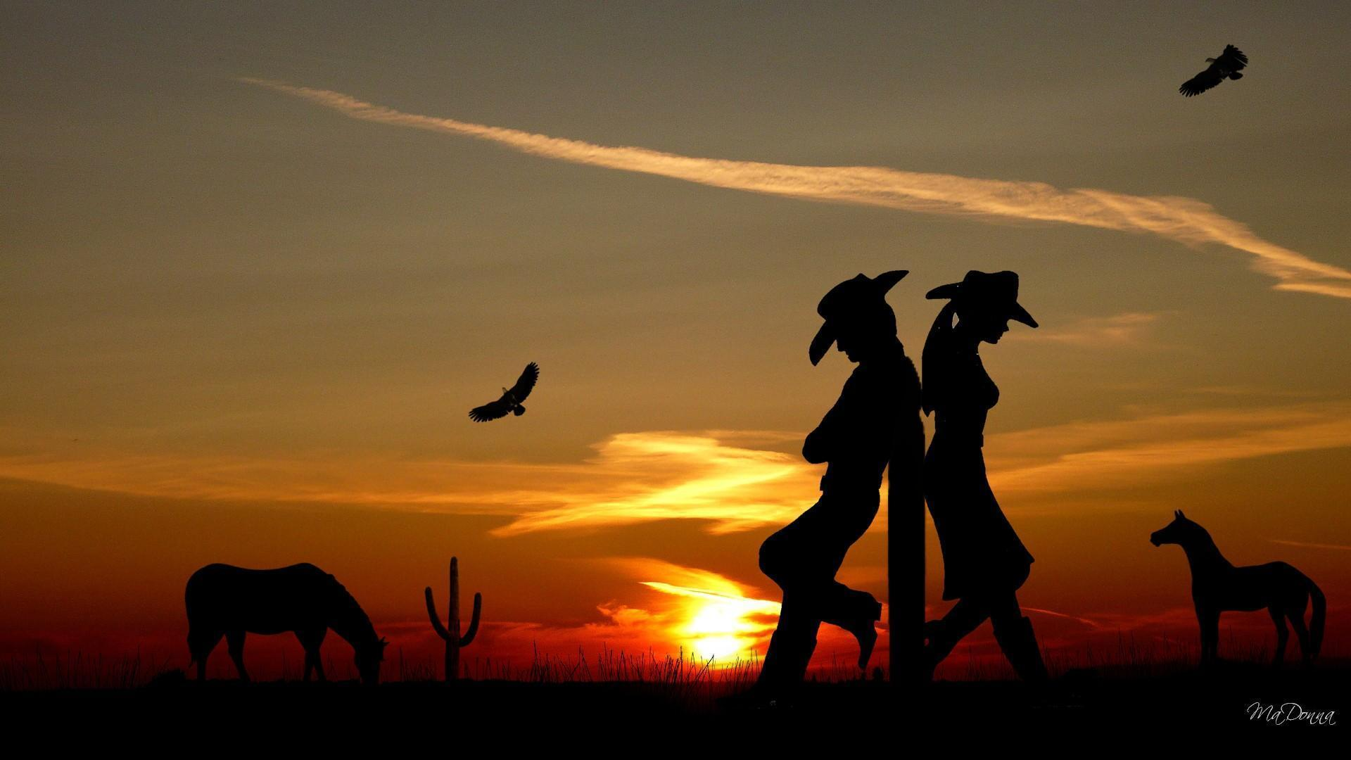 cowgirl silhouett wallpaper - photo #7