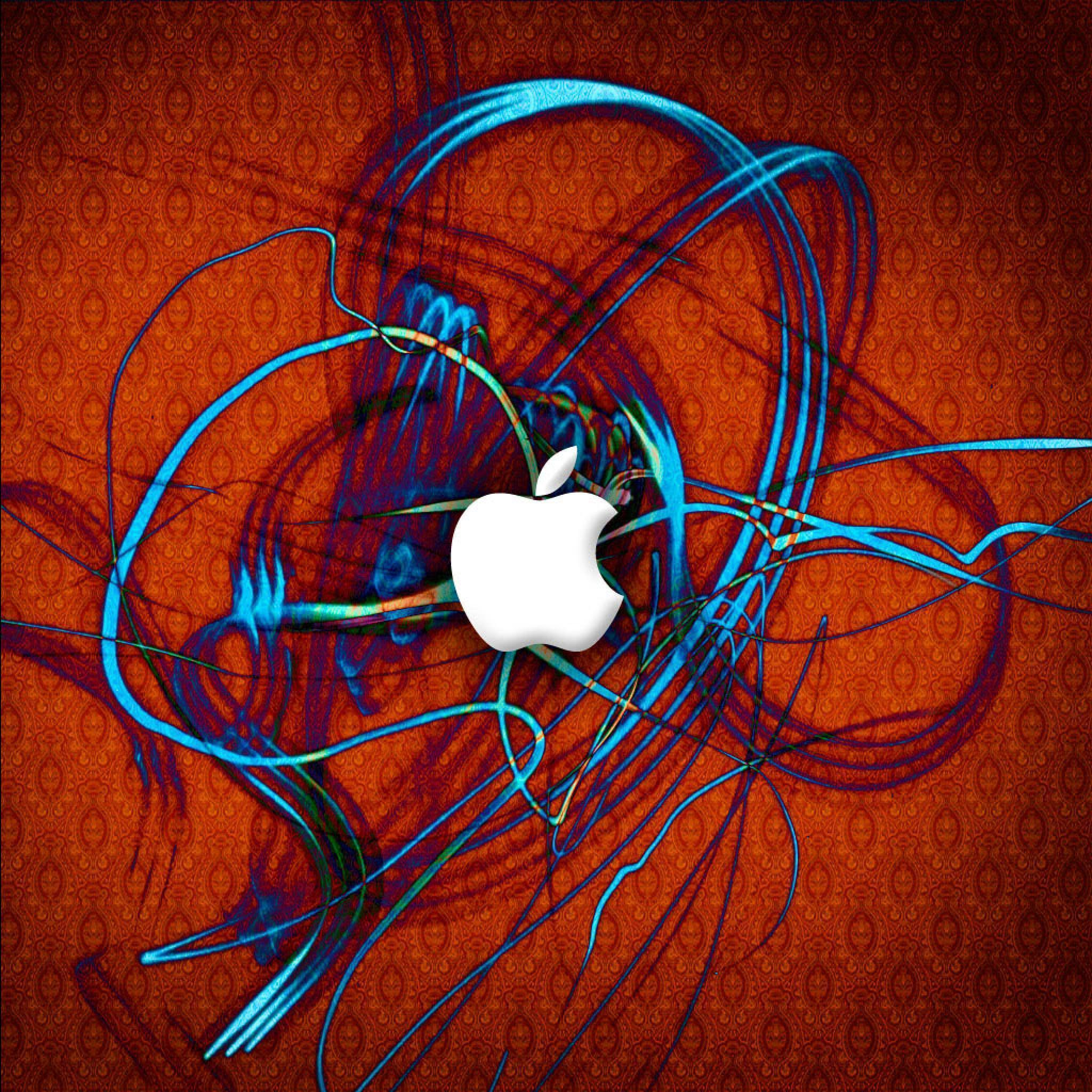 Computer Brand Retina iPad Apple Logo Red Electric Wallpapers for