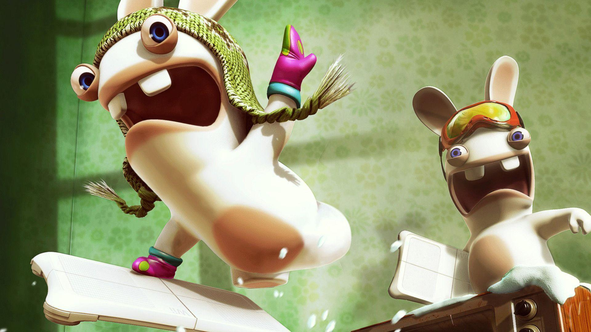 Rabbids Invasion Funny 3d Cartoon Wallpapers