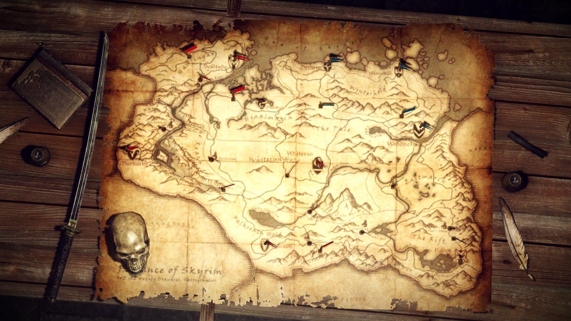 Skyrim Karte