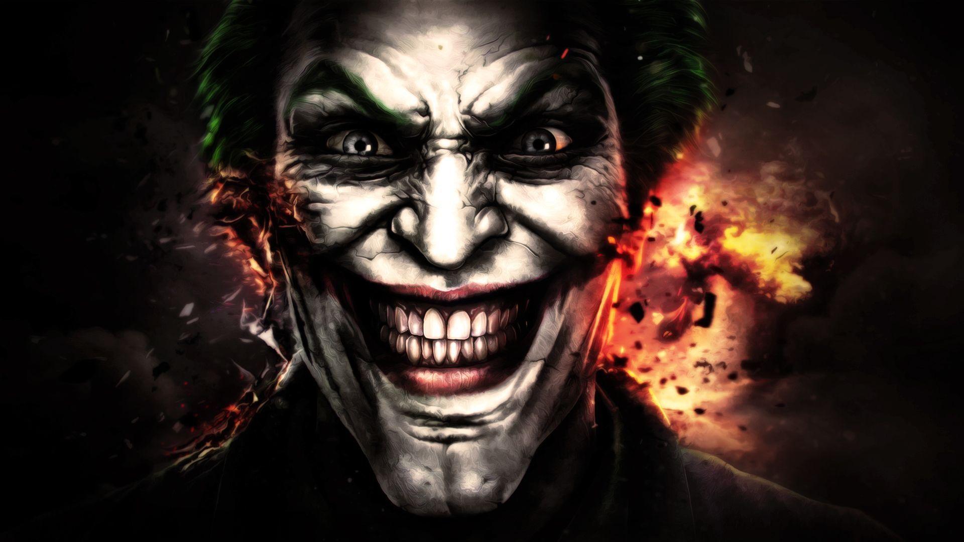 scary joker face
