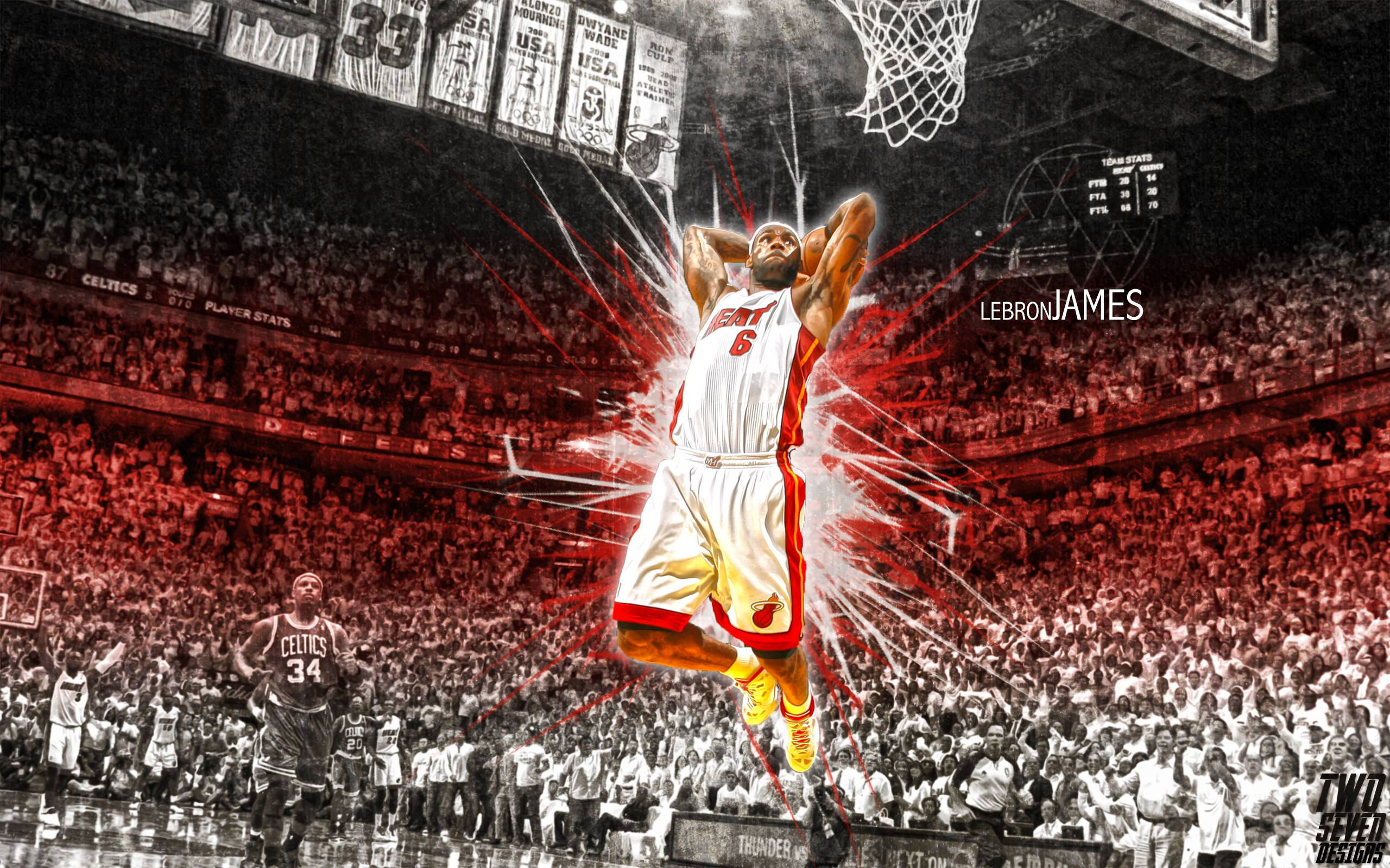 nba lebron james heat wallpapers tanukinosippo