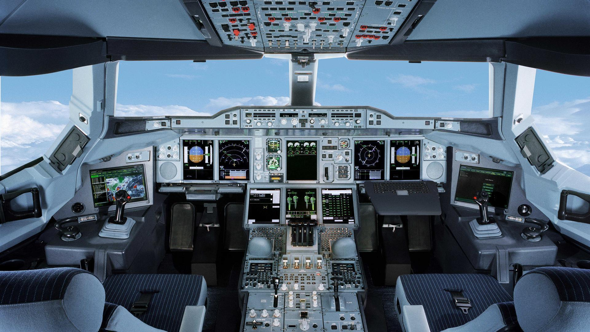 Airplane cockpit wallpapers wallpaper cave for Airplane cockpit wall mural
