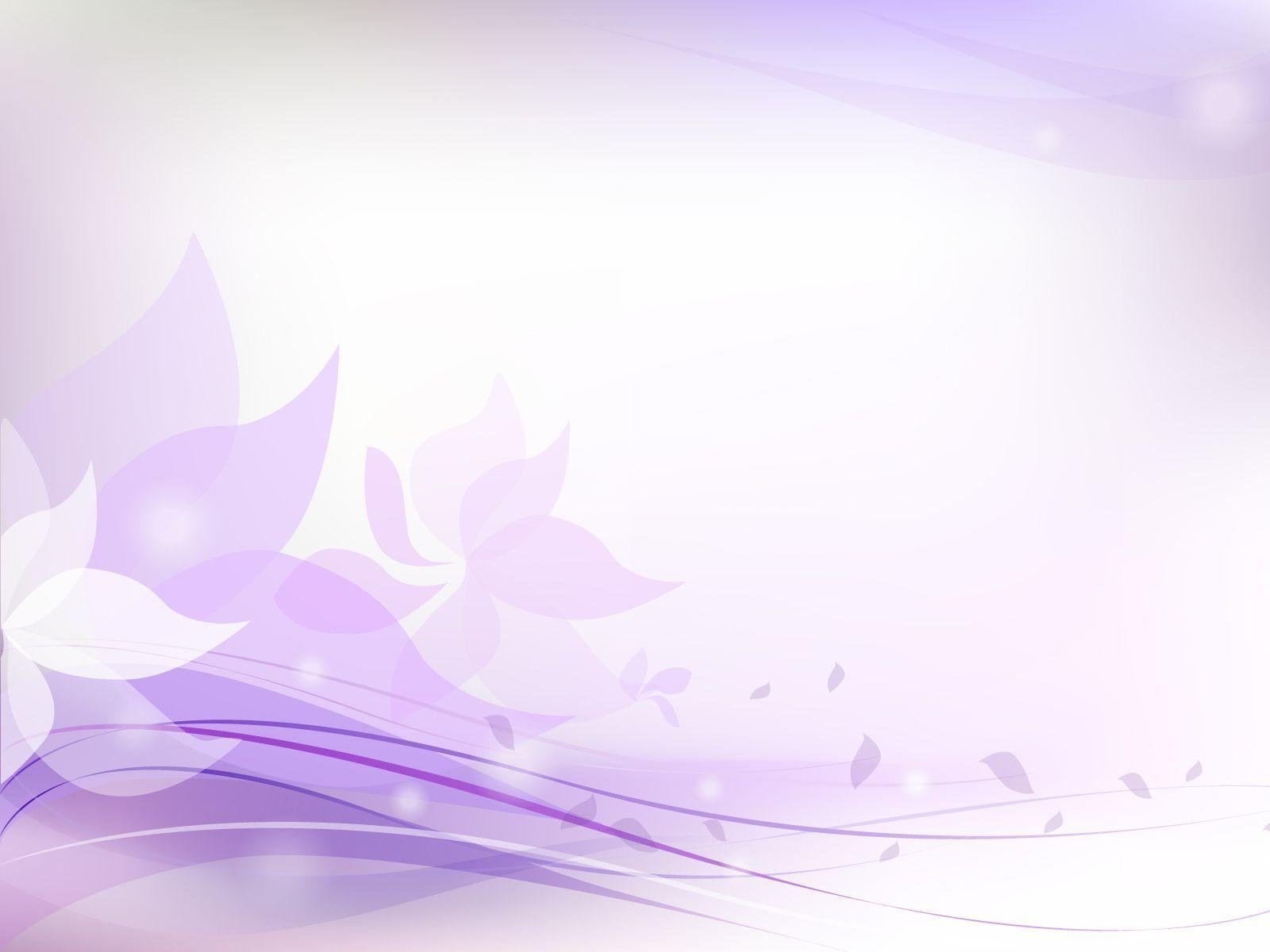 Light Purple Floral PPT Backgrounds - Colors, Flowers, Purple ...