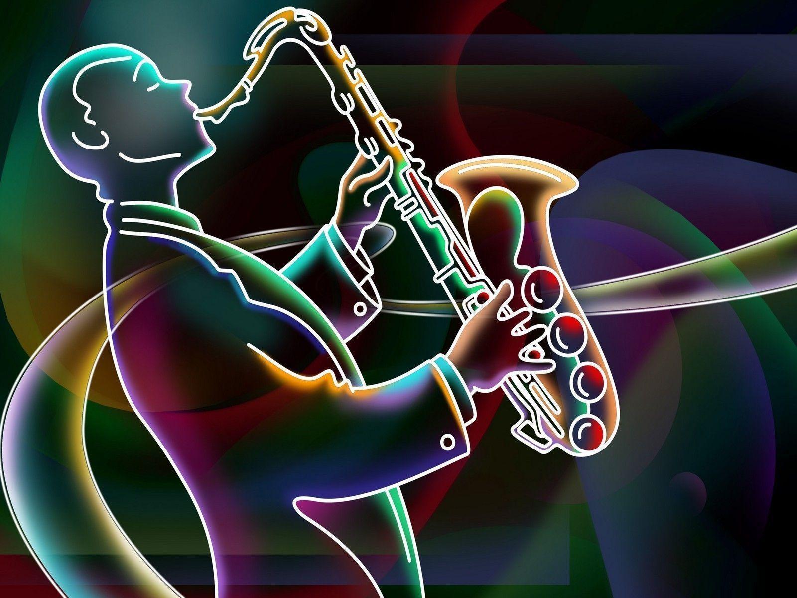 Jazz in Neon - Jazz Wallpaper (18994784) - Fanpop
