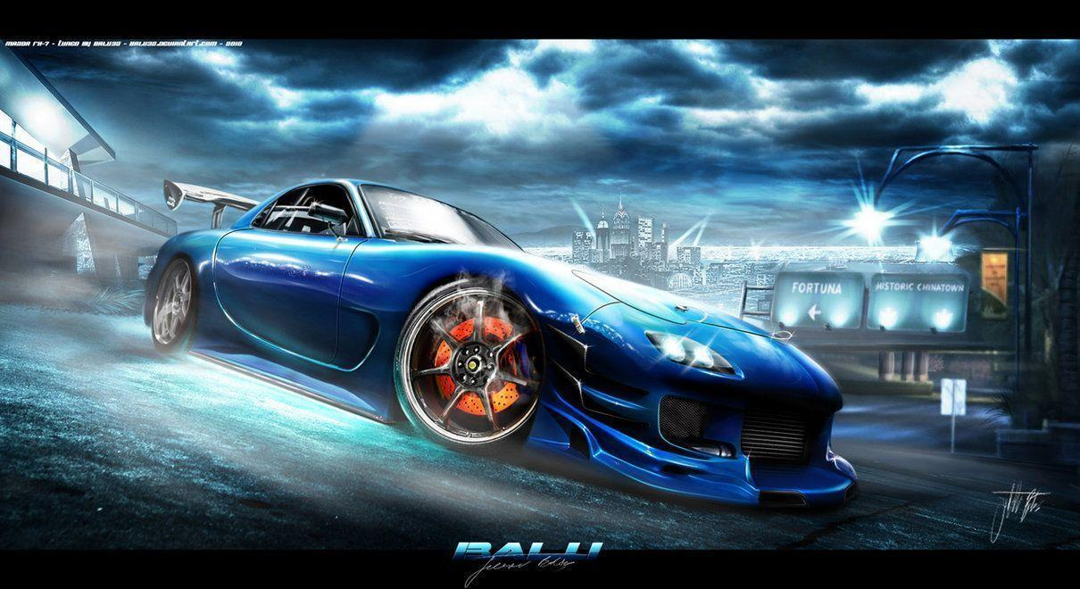 Mazda Rx7 Blue 10260 HD Wallpaper Pictures | Top Wallpaper Gallery ...