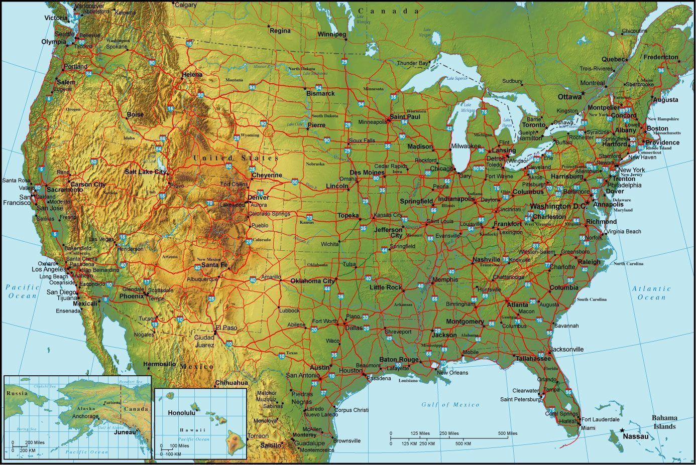 Us Map Free Globalinterco - The us map