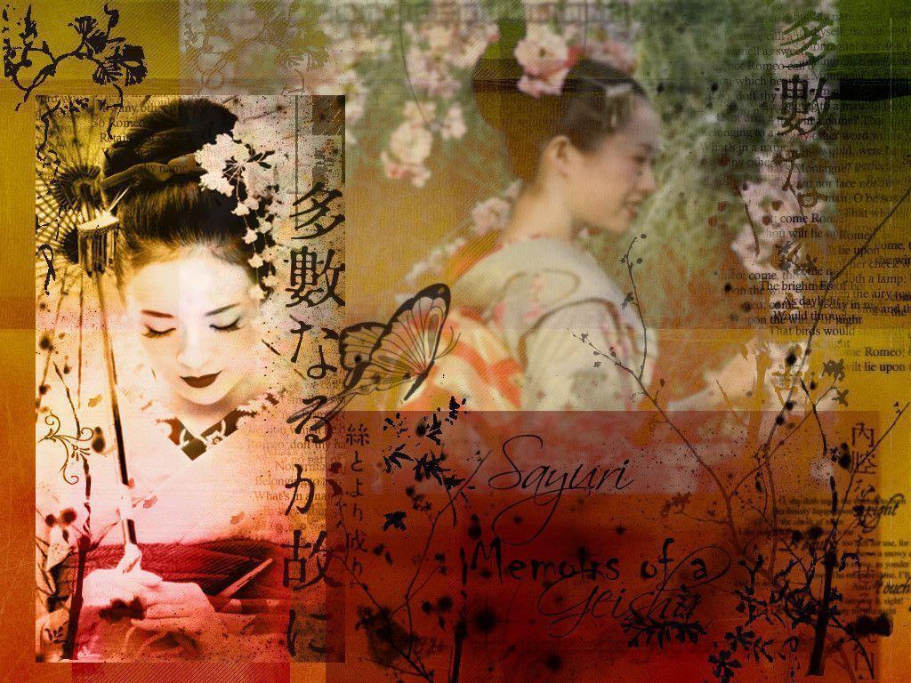 wallpaper geisha corals girl - photo #37