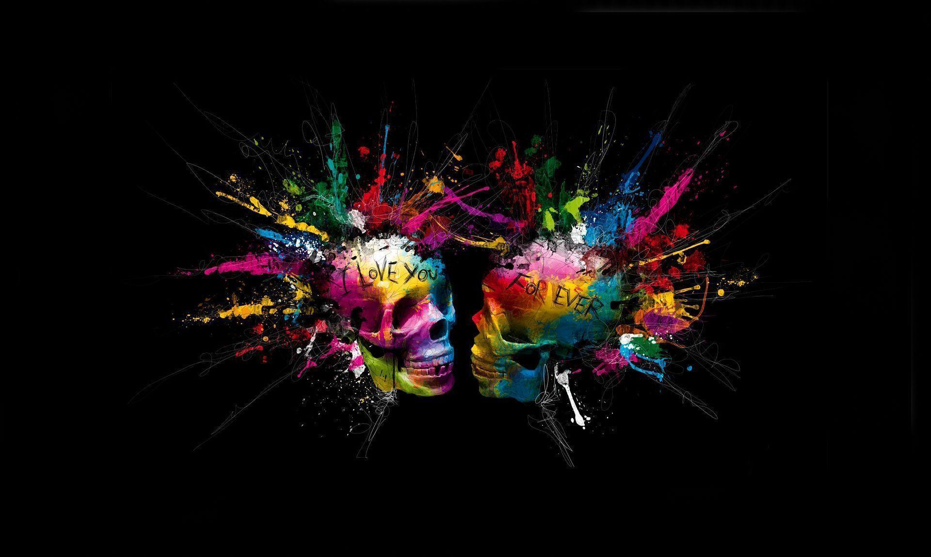 skull wallpaper 133 colorful - photo #15