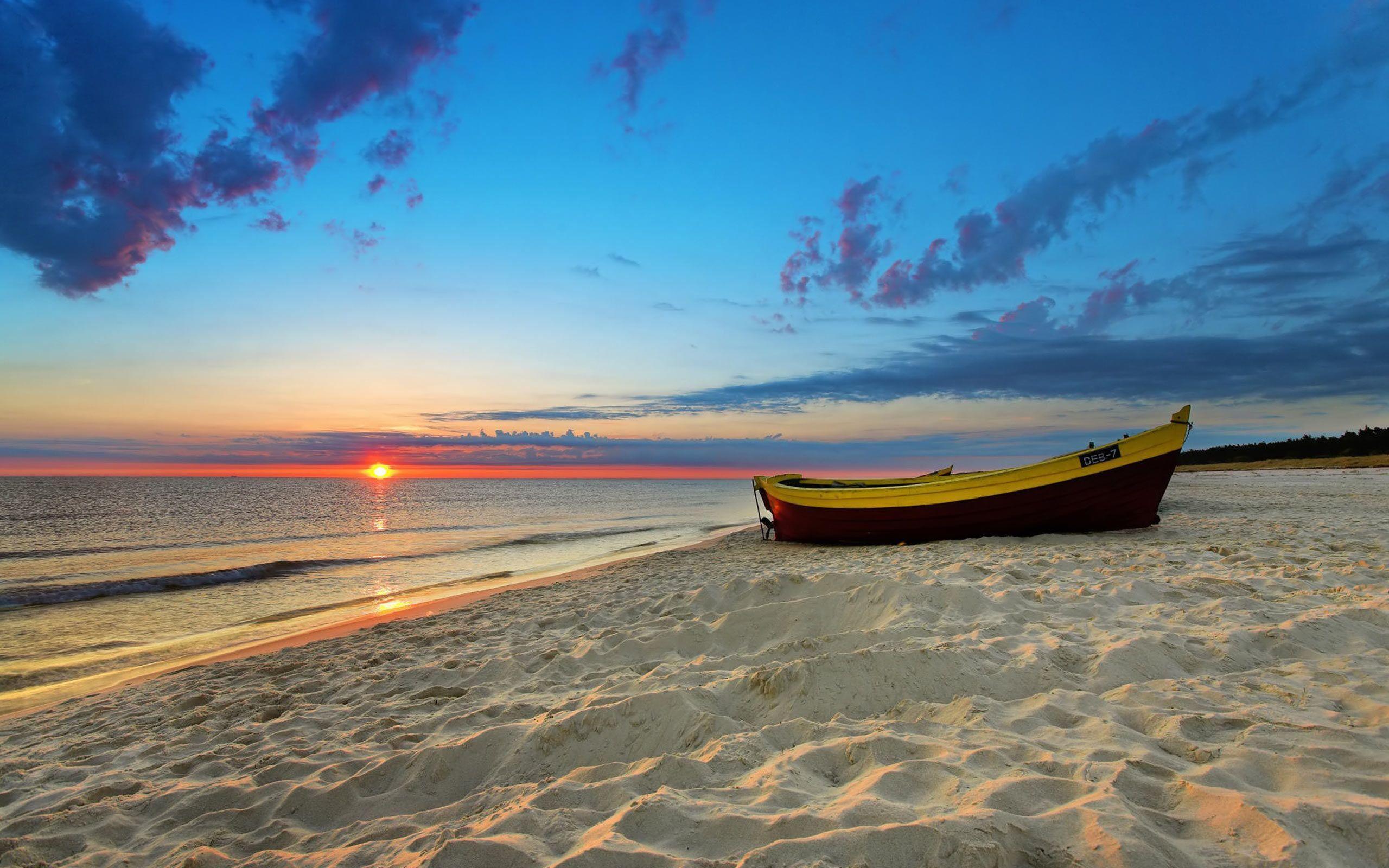 Sunset Beach Free Wallpaper HD Download