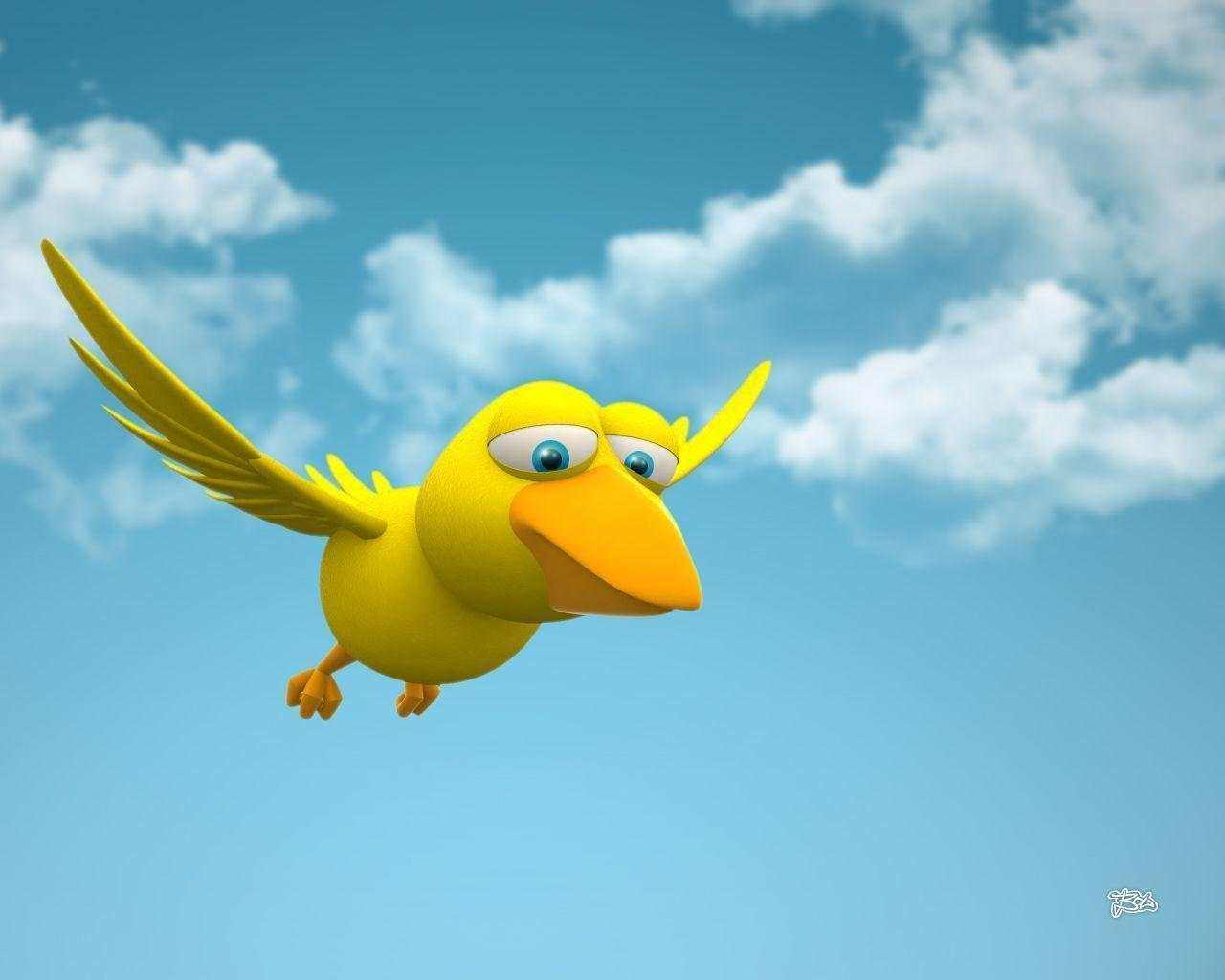 3D Bird HD Cartoon Wallpapers Wallpapers