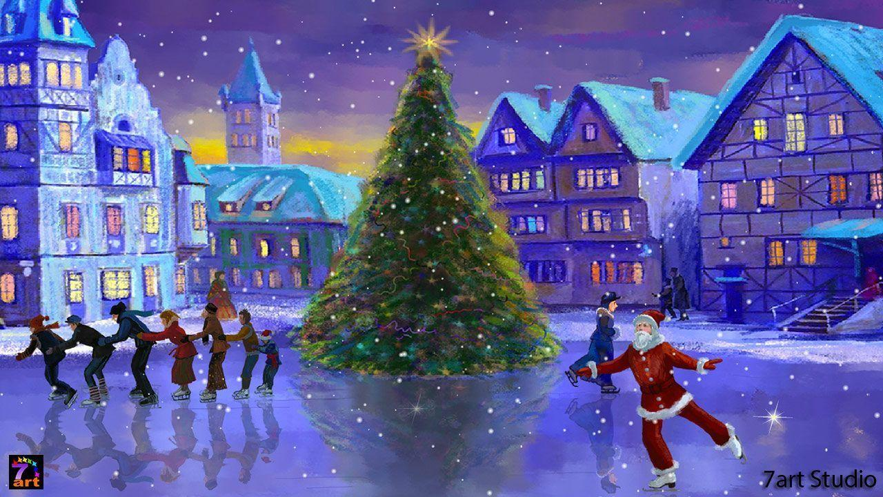 christmas wallpapers for pc wallpaper cave