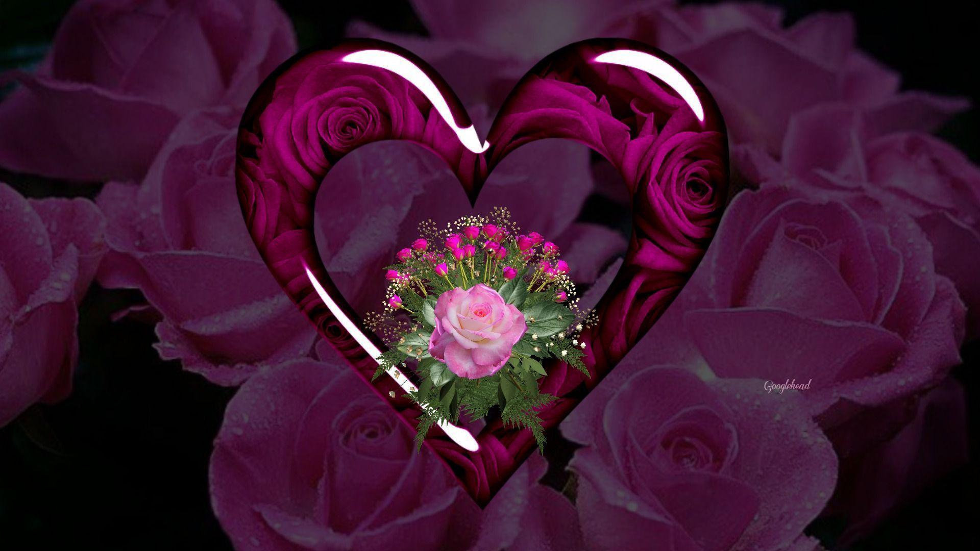 Red roses and hearts wallpapers wallpaper cave - Pics of roses and hearts ...
