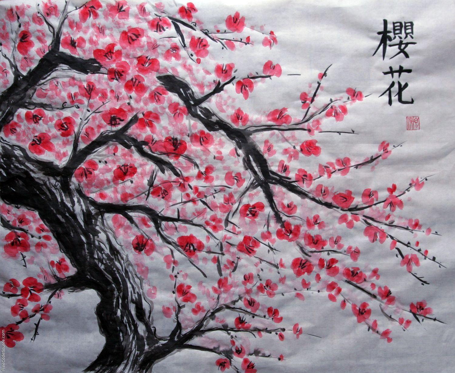 Blossom Tree Drawing: Cherry Blossom Backgrounds