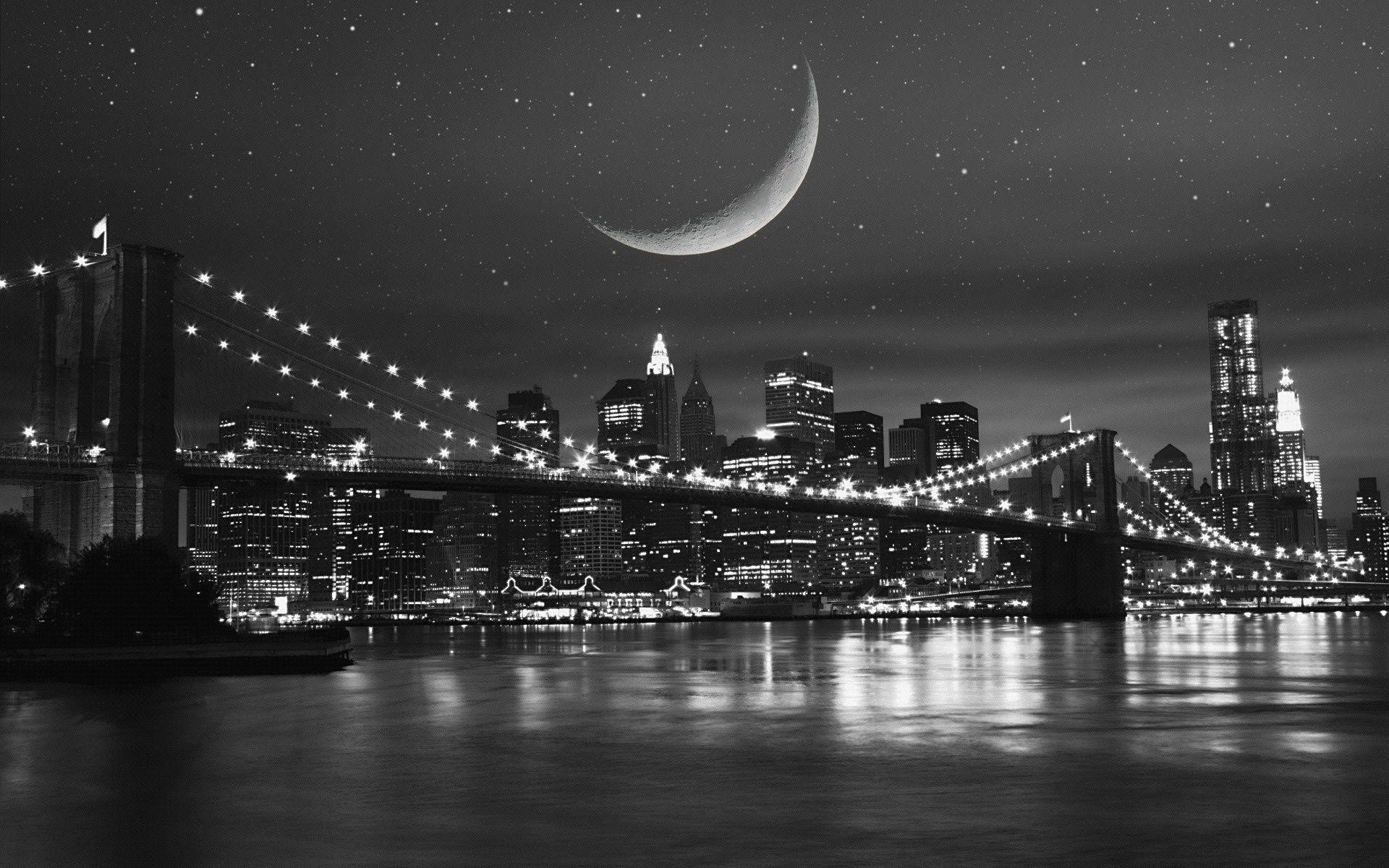 Brooklyn bridge wallpapers wallpaper cave for Black and white new york mural wallpaper