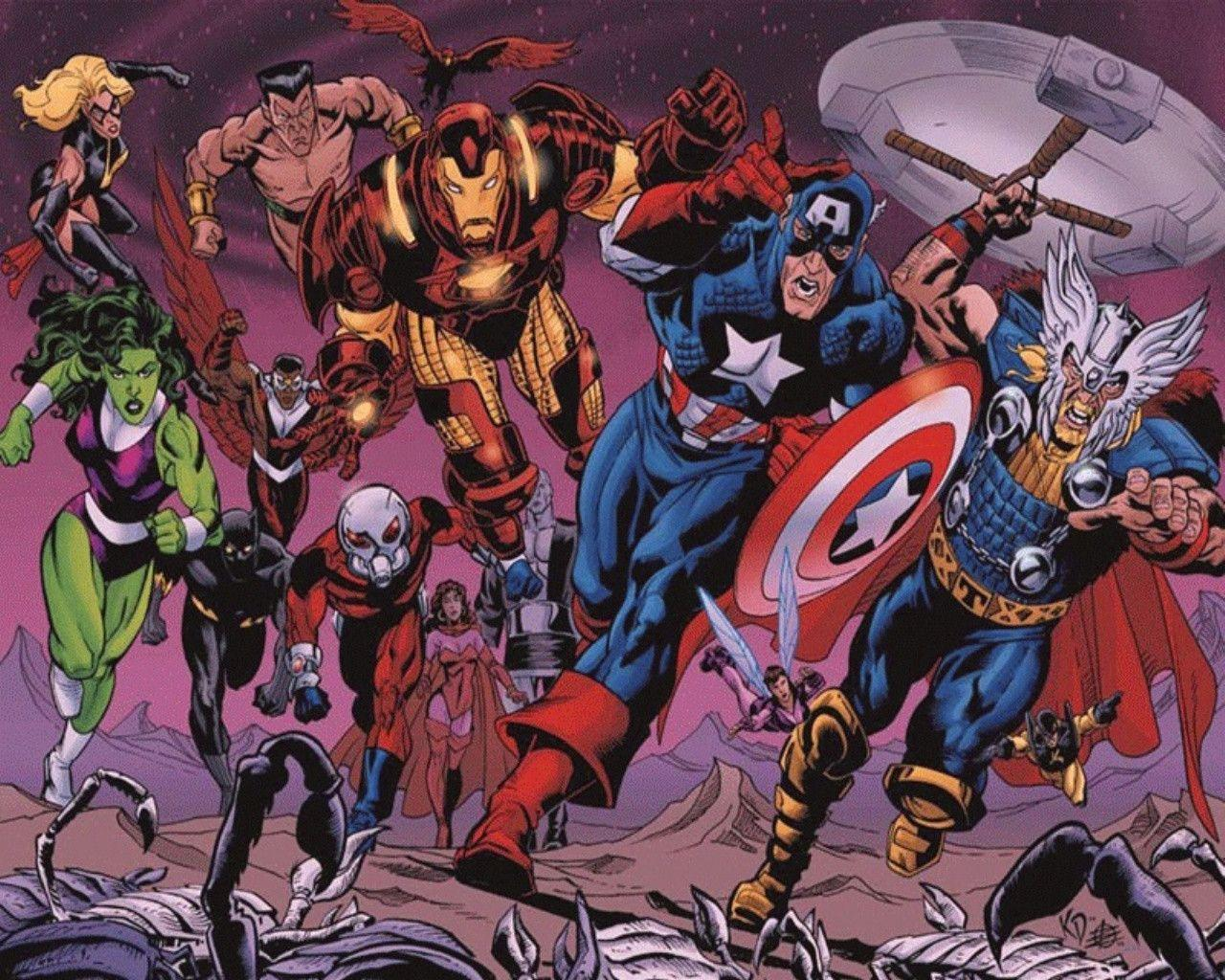 Avengers Comic Wallpapers Wallpaper Cave