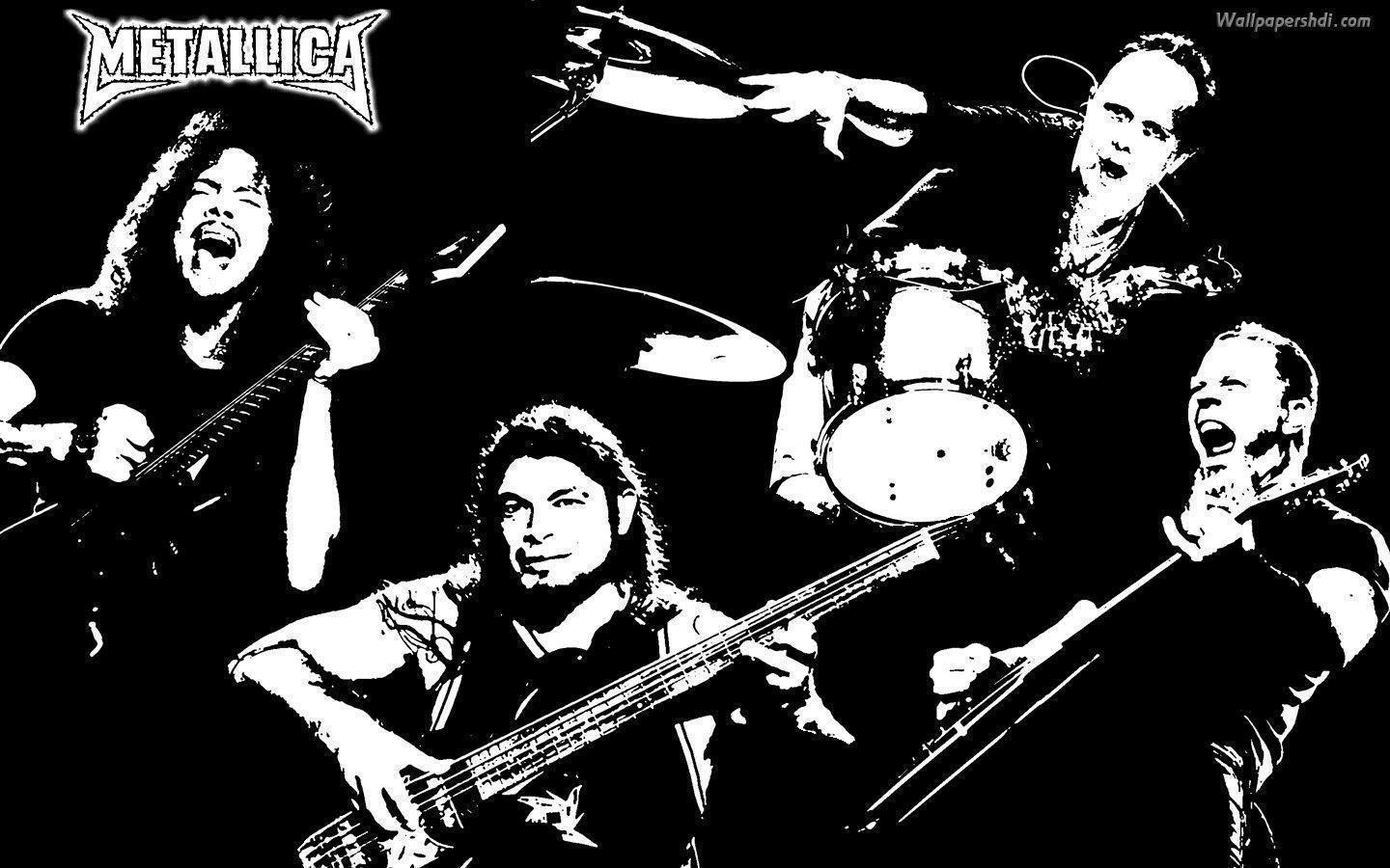Metallica Group Artist Rendering HD Wallpapers