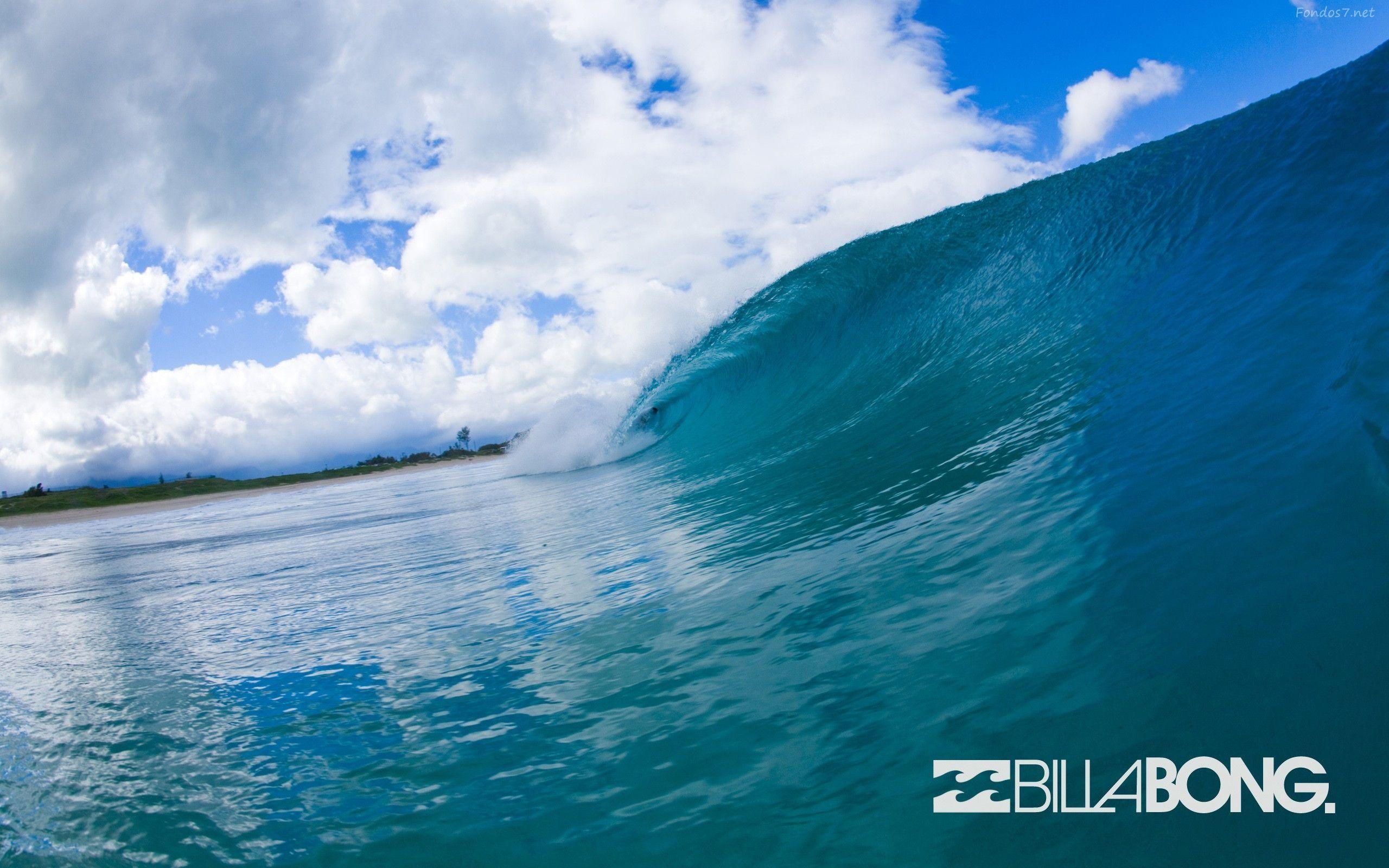 Surfing waves wallpaper