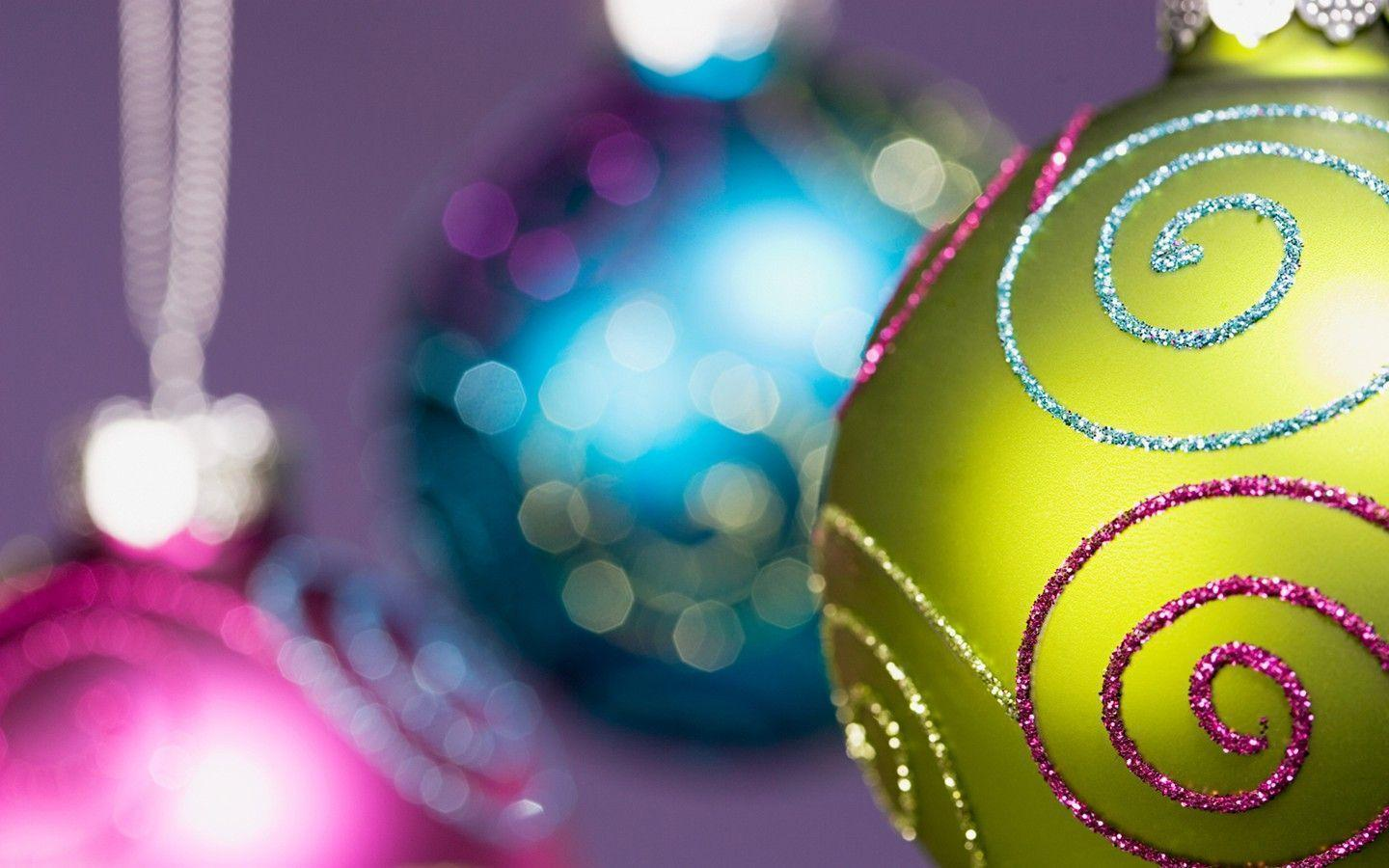 Colorful Christmas ornaments wallpaper 31158 - Christmas - Festival