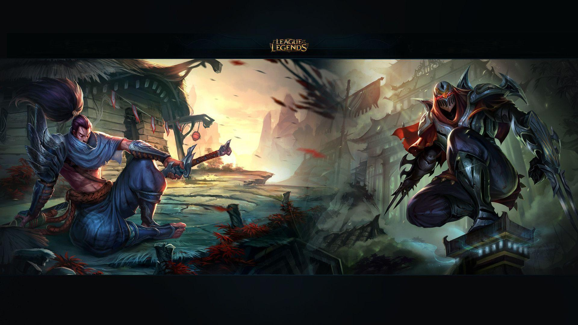 yasuo vs zed hd wallpaper 1920x1080