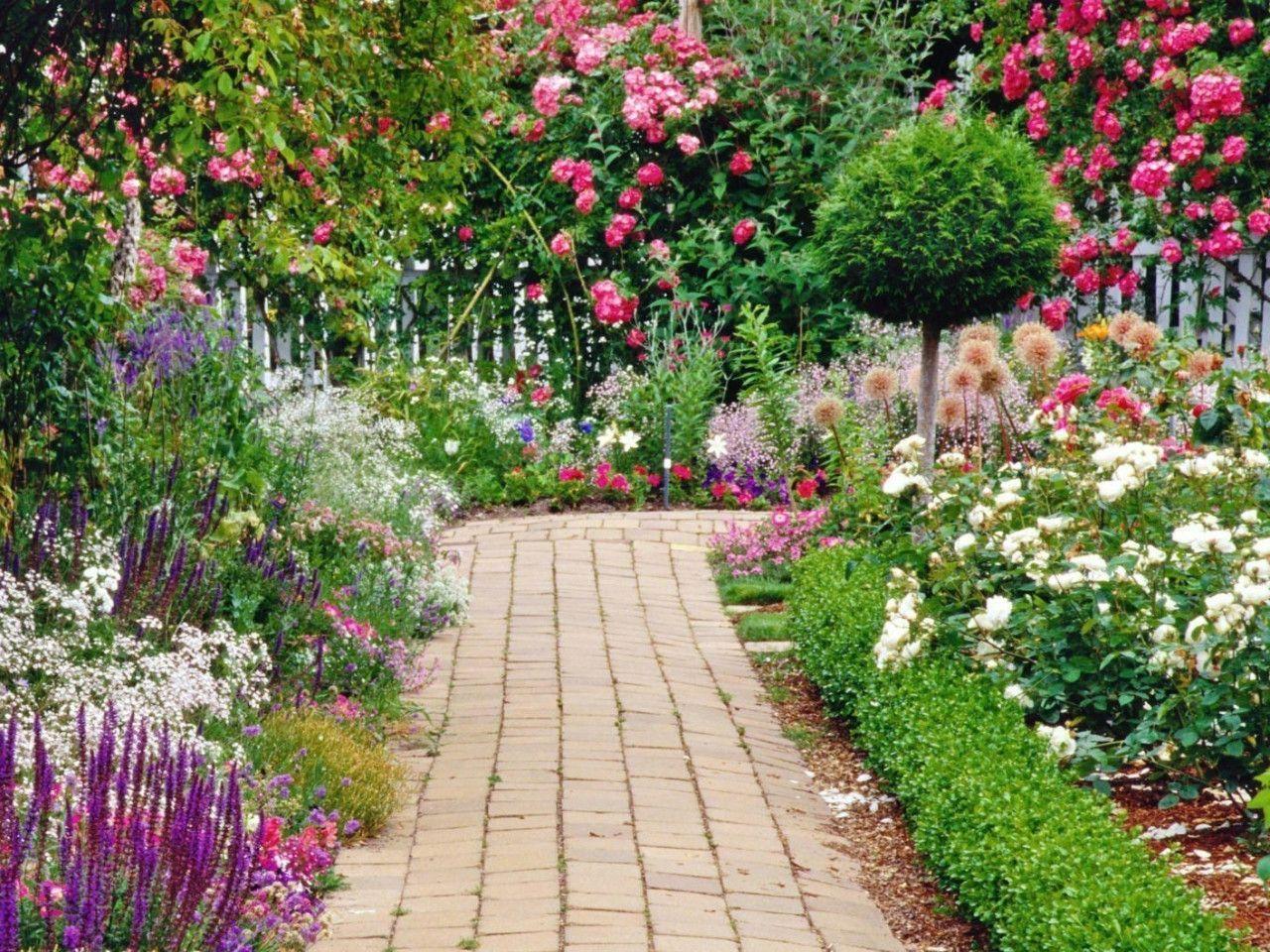 Flower Garden Wallpaper Download Wallpaper | Green HD Wallpaper