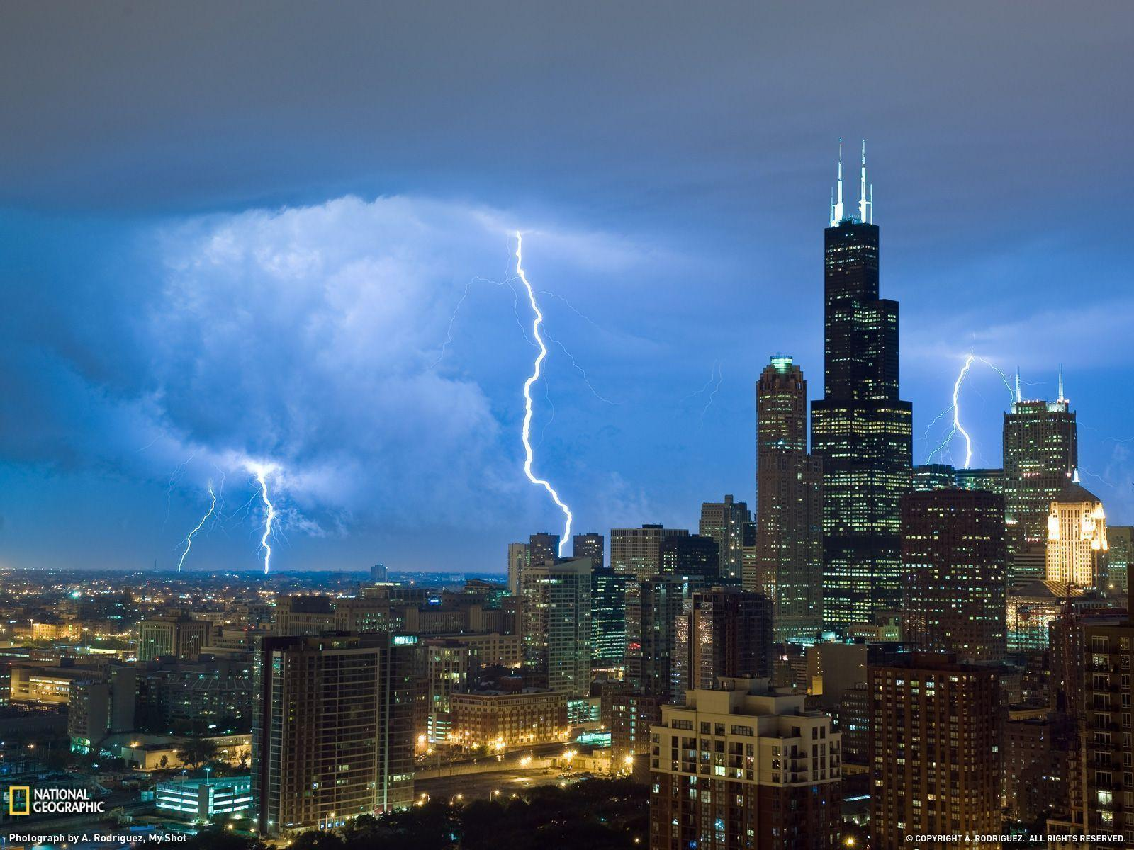 Lightning, Sears Tower Photo, Weather Wallpaper – National ...