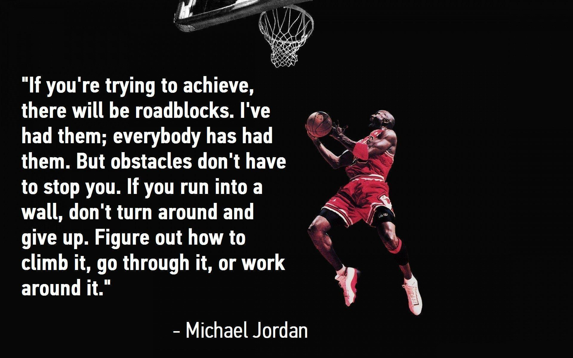 Quotes By Michael Jordan Michael Jordan Quote Wallpapers  Wallpaper Cave