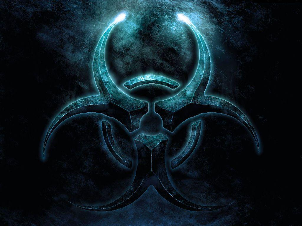 Pin Biohazard Symbol Wallpaper Hd Background on Pinterest