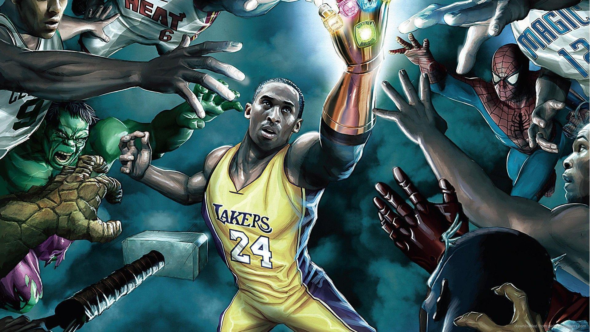 Marvel NBA Kobe Bryant Wallpaper For PSP