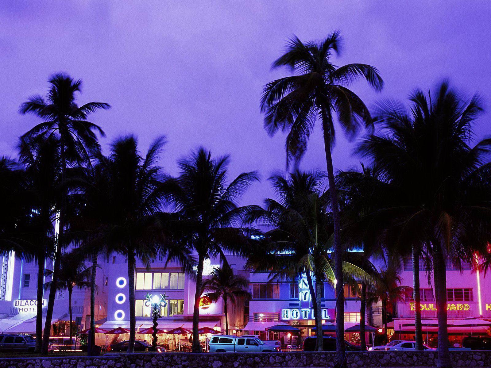 Art Deco District South Beach Miami Florida Free Desktop
