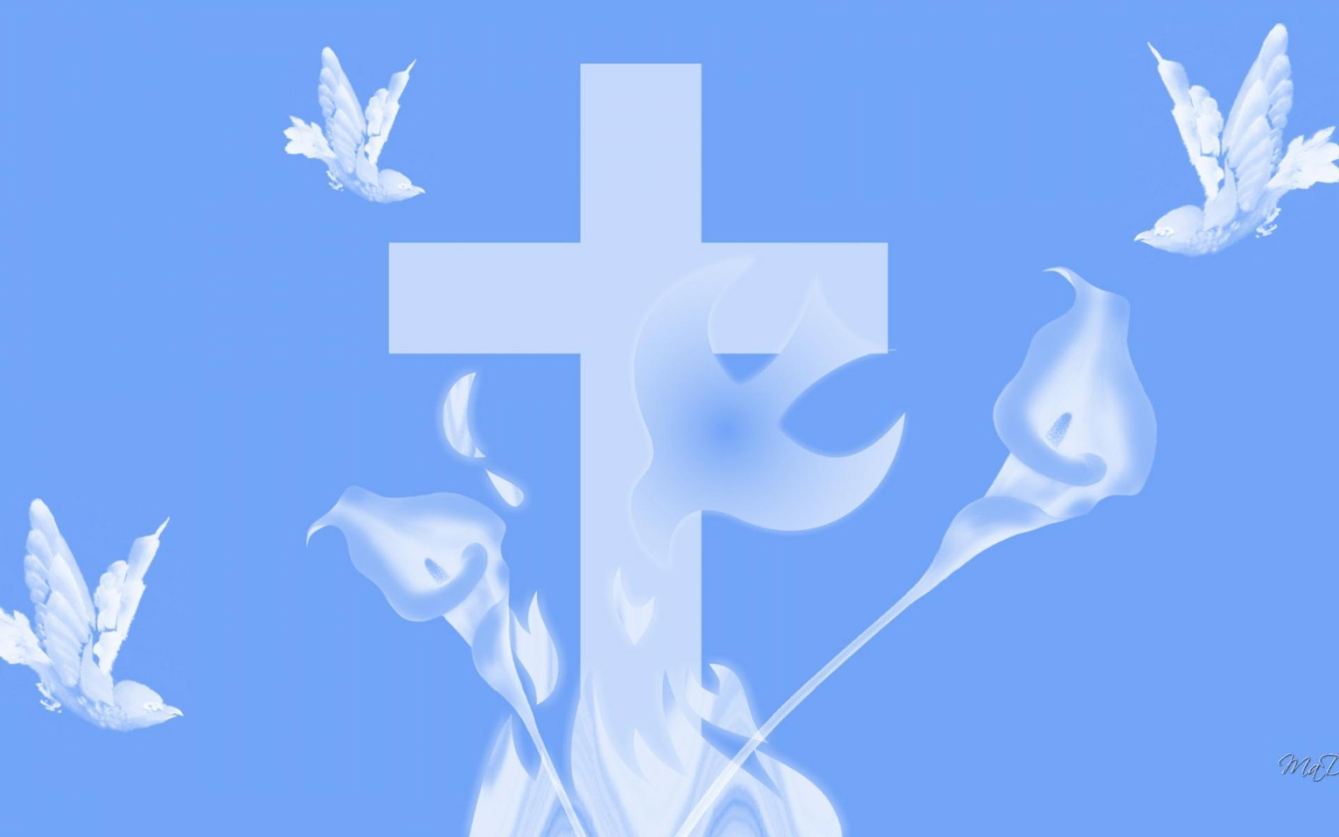 Cross and dove background - photo#2