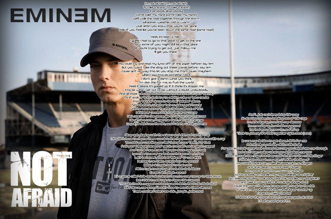 Eminem Not Afraid Wallpapers - Wallpaper Cave