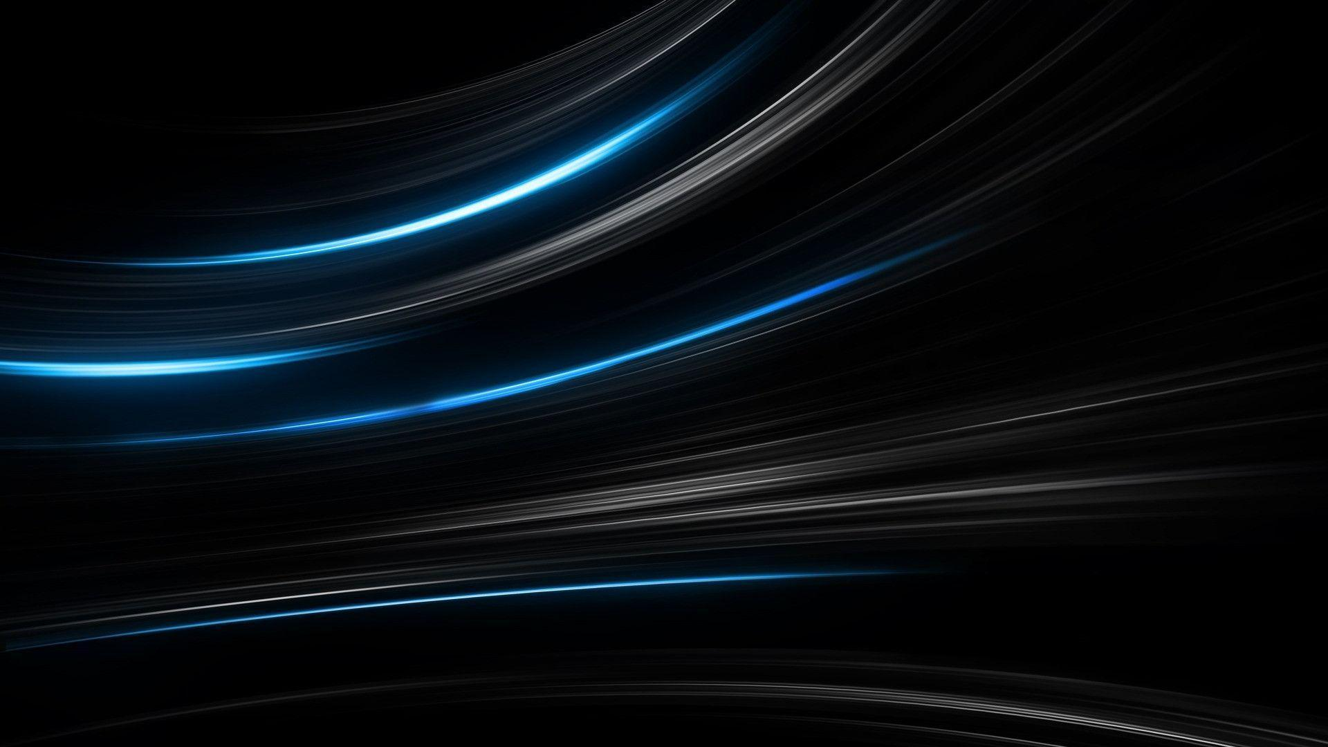 Wallpapers For > Black And Blue Abstract Wallpapers