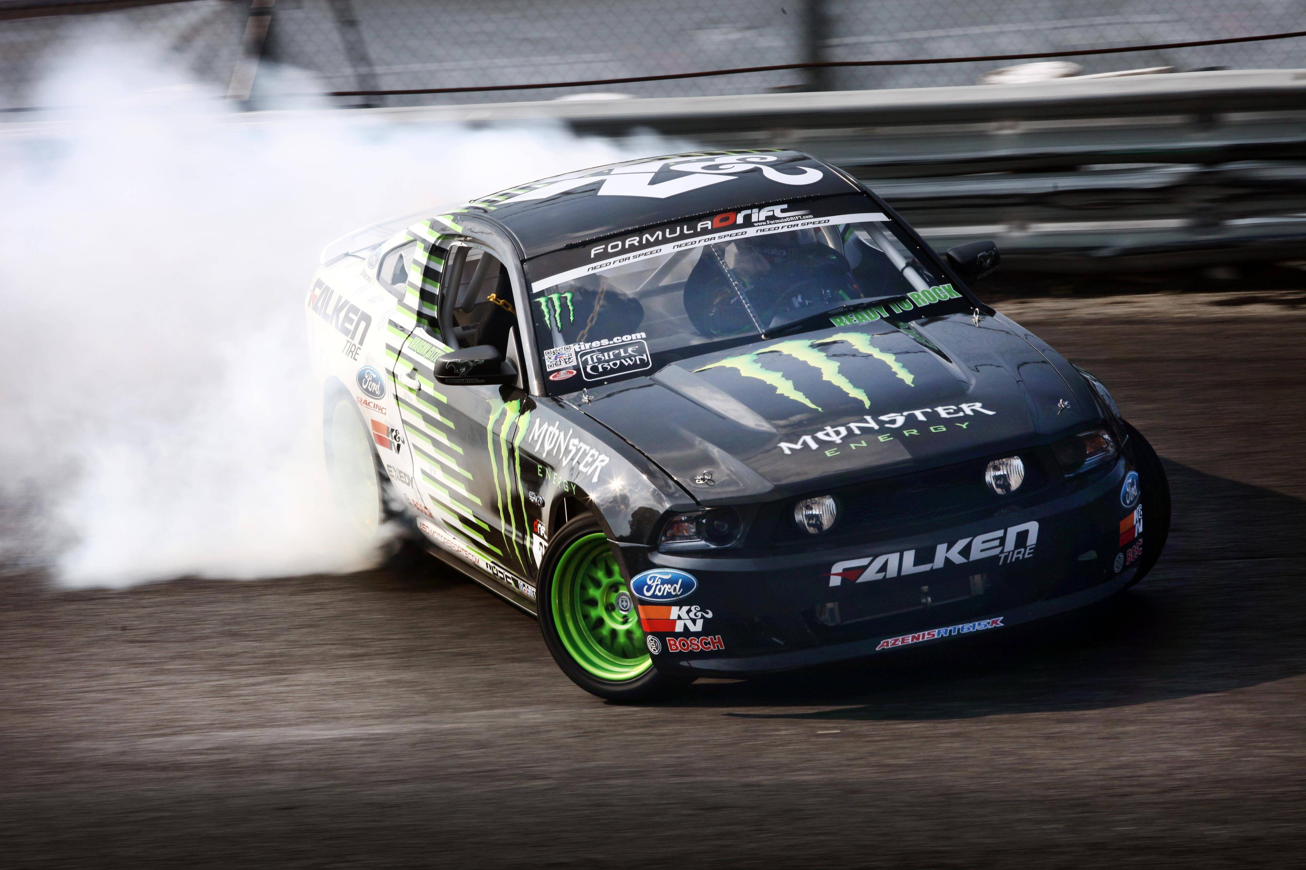 Wallpapers drift, ford mustang, falken, monster energy, ford ...