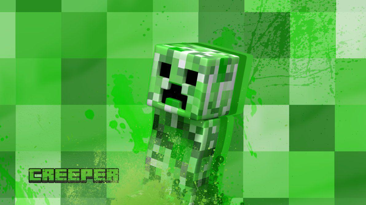 Wallpapers For > Minecraft Wallpaper Creeper