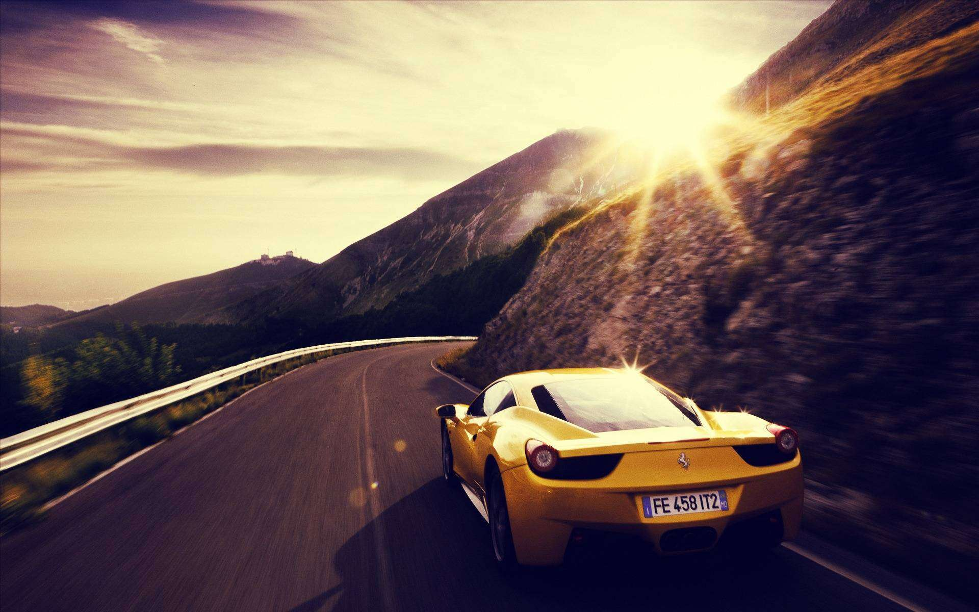 FunMozar – Yellow Ferrari Wallpapers