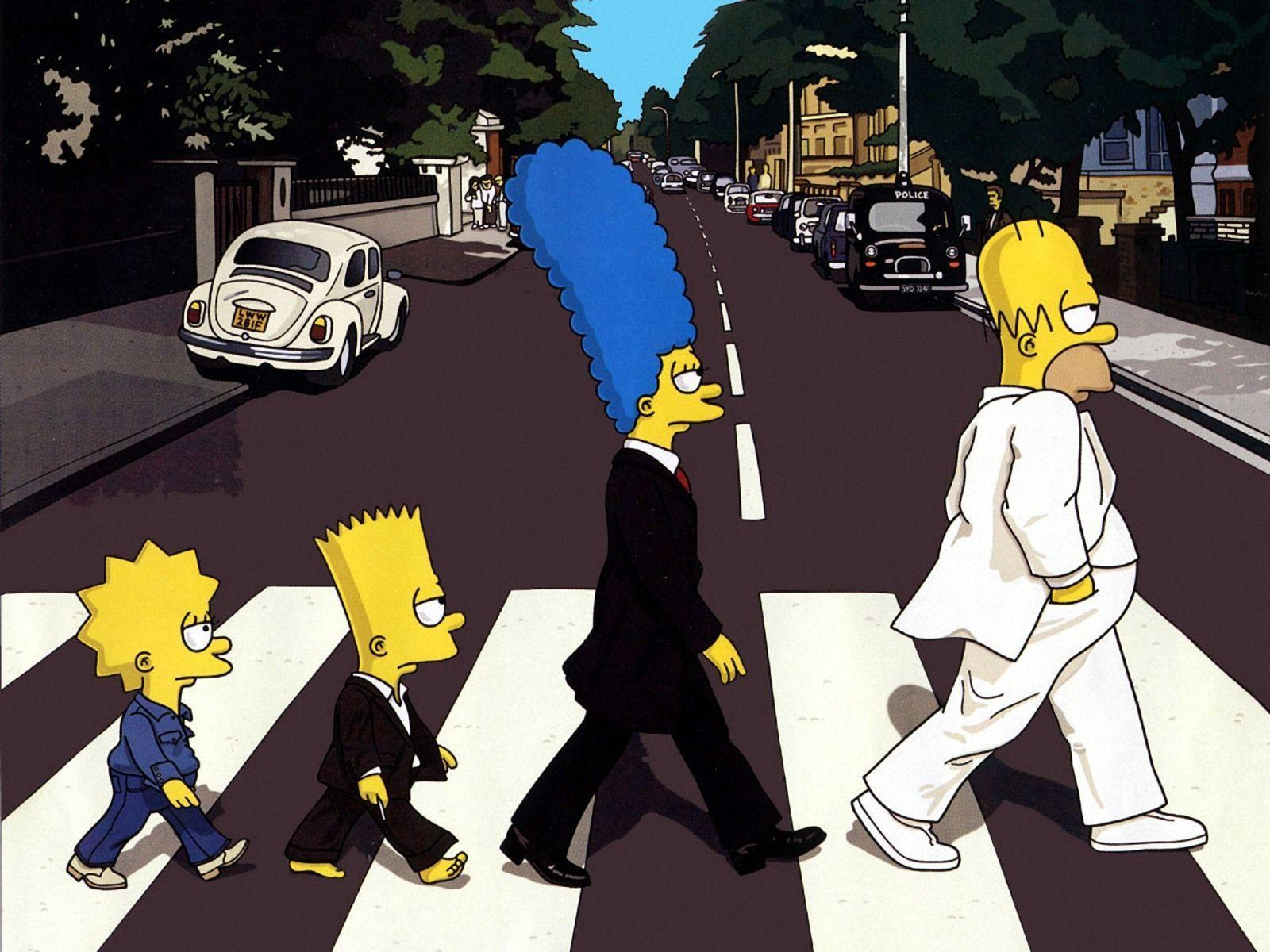 The Simpsons Abbey Road Wallpapers Wallpaper Cave