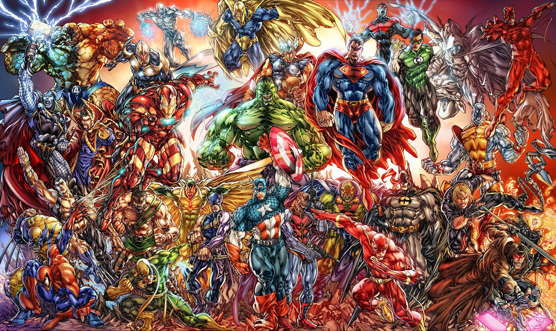The Marvel Comic Wallpapers