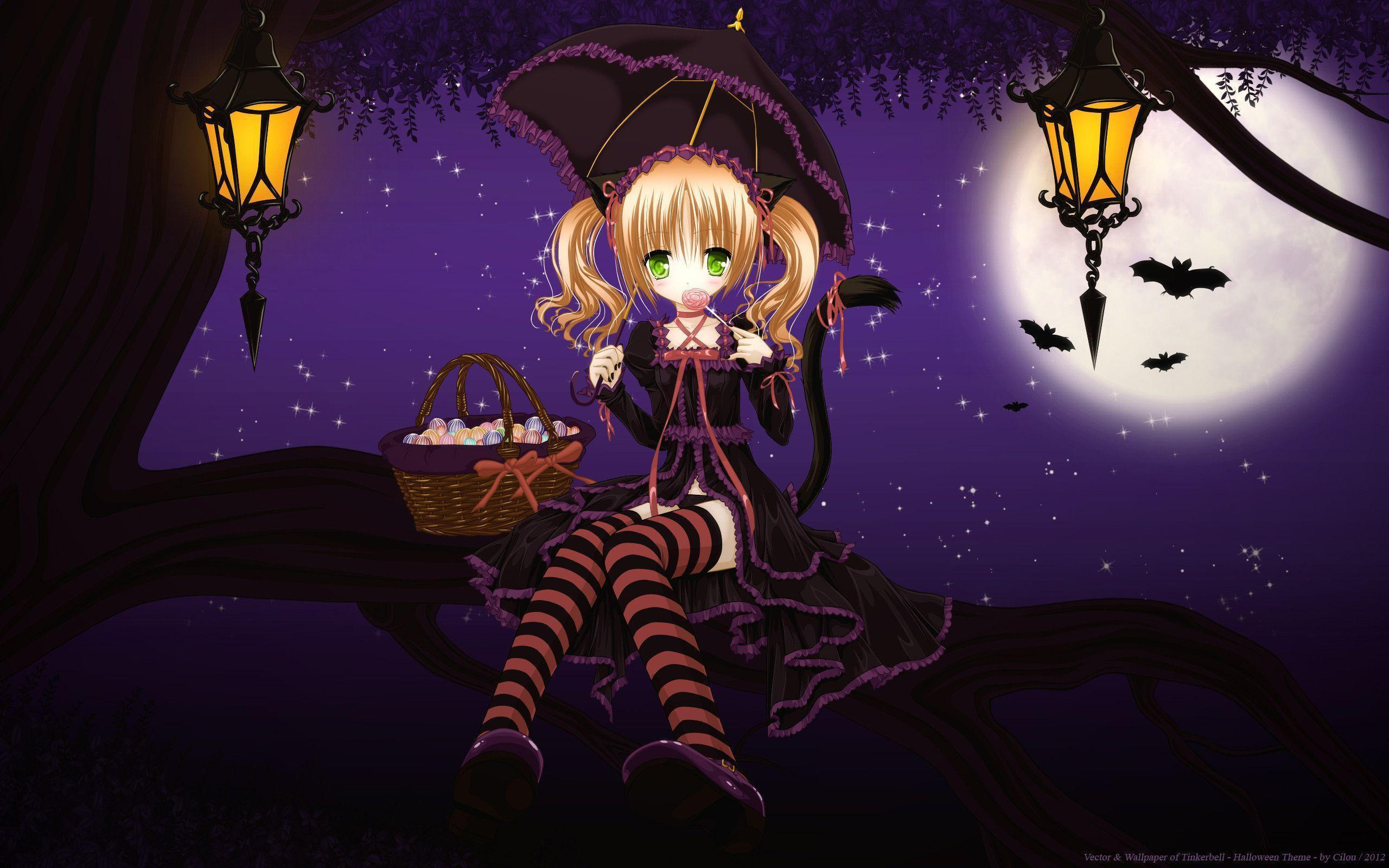 cute halloween anime girl hd wallpapers halloween october hd free
