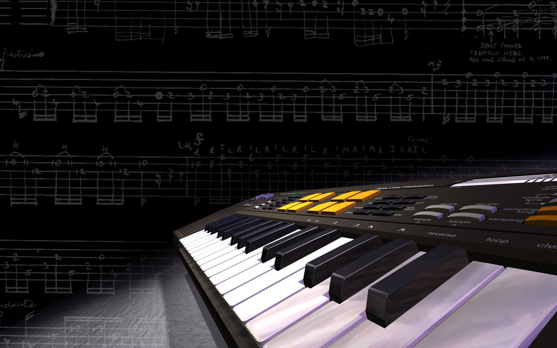 Music Keyboard Wallpapers Wallpaper Cave