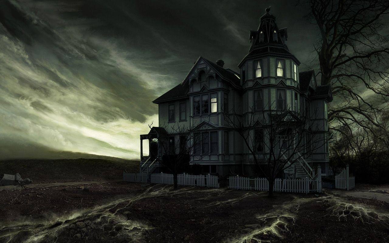 Haunted house backgrounds wallpaper cave for Wallpaper with houses on
