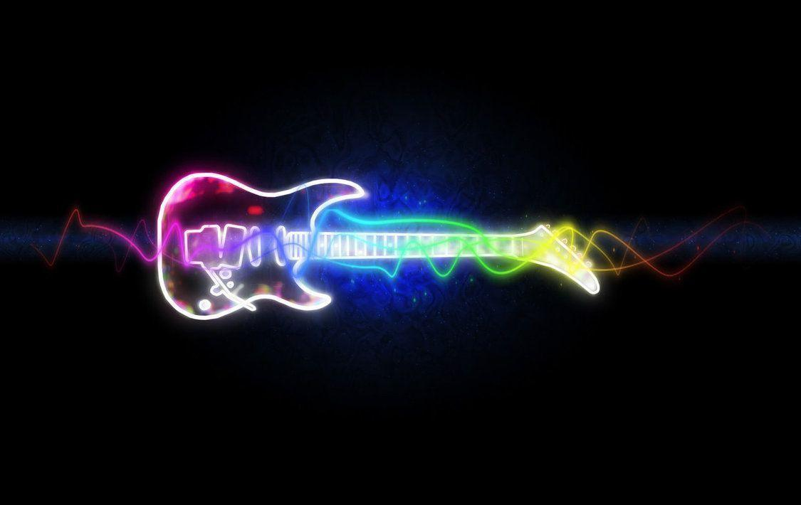 Neon Music Notes Wallpaper: Cool Music Backgrounds Wallpapers