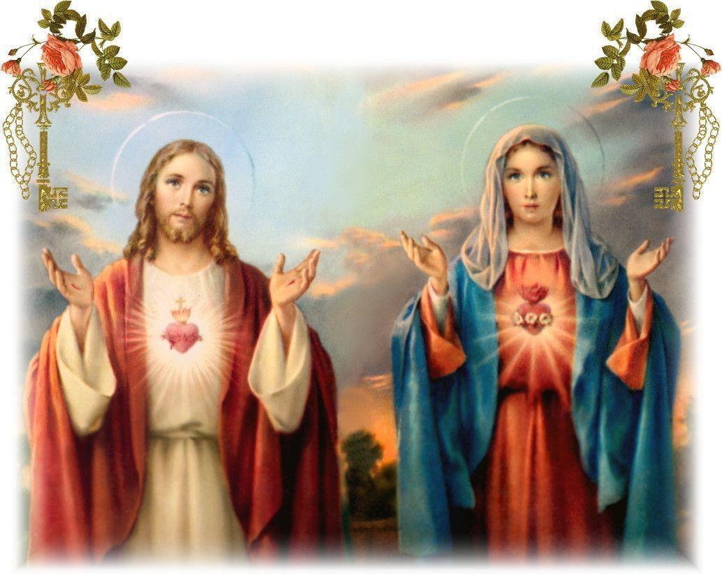 Jesus Christ Mother Mary Wallpapers Wallpaper Cave