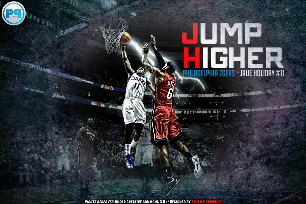 Jrue Holiday Dunk over LeBron James Wallpapers by PavanPGraphics on
